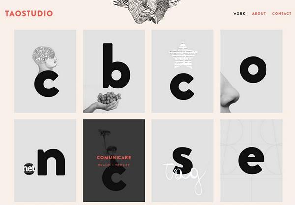 八个精美的字体排版网站设计赏析